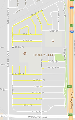 outline of Hawthorne 142nd Street Project
