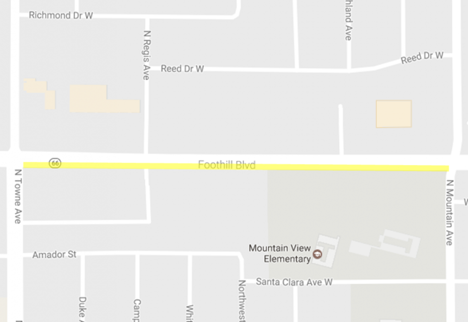 outline of Foothill Boulevard Project