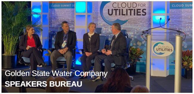 Panel of speakers at the Golden State Water Company Speakers Bureau